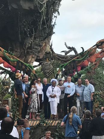 """Wait, that's...."" Avatar Cast at the Pandora Dedication"